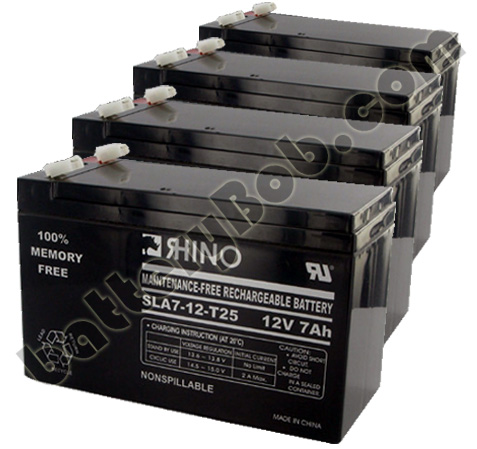Toyo 12V 7Ah SLA Rechargable Battery With .250 Faston- 4 PK- SLA7-12/T25