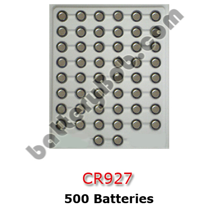 LITH-35 - CR927 500 Pack Lithium Coin Cell Batteries 3 Volt 30 mAh. 500 CR927 in a Tray.